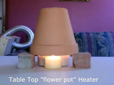 Candle Powered Space Heater - DIY Air Heater 190F -