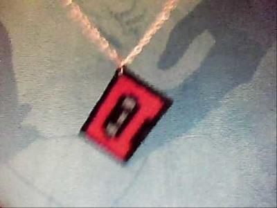 Cassette hama bead necklace