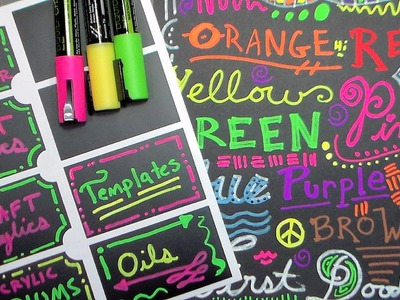 Crafty Croc Chalk Markers Demo and Review