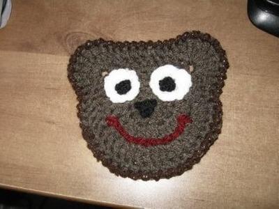 Crochet a Bear Motif or Bear Coaster Tutorial