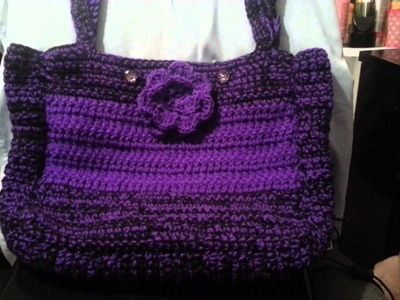 Crochet bag using the tutorial by Yolanda Soto Lopez