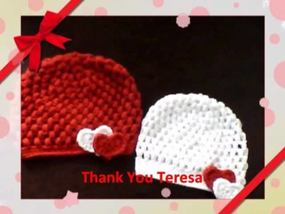 Crochet hats for Valintine's day by Destinn's Fashion