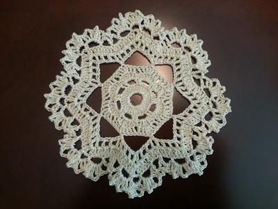 Crochet Mini Doily - Octagonal Pattern