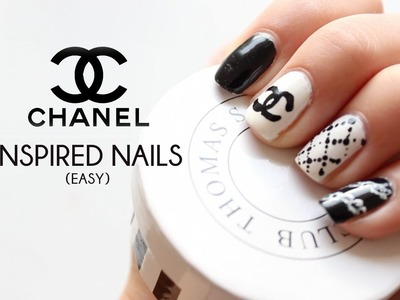 DIY Chanel inspired nail art tutorial