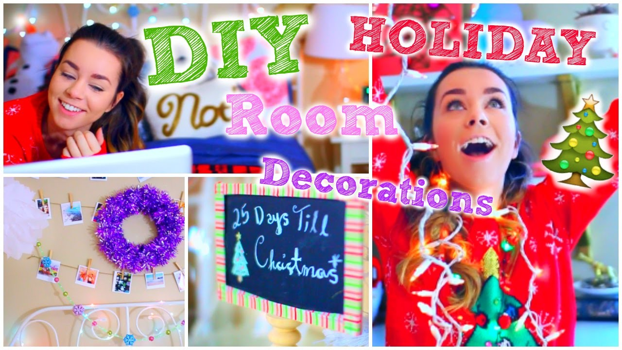 DIY Holiday Room Decorations! + Cute & Easy Decor Ideas!