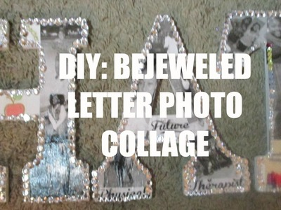DIY| Mother's Day Gift Idea| Bejeweled Letter Photo Collage| aBrushofBre