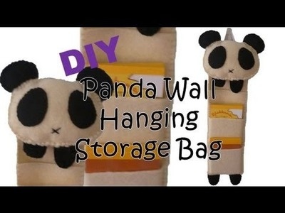 DIY: Panda Wall Hanging Storage Bag
