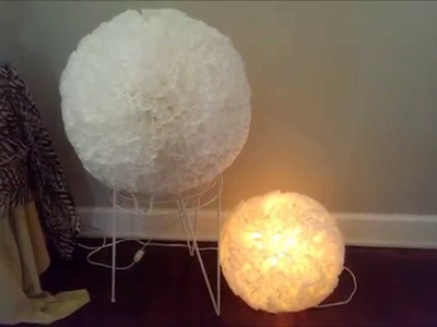DIY PAPER LANTERN FLOWER COFFEE FILTER