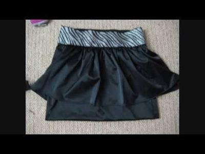 DIY Peplum skirt, How to : make your own high-waist mini skirt