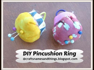 DIY Pincushion Ring (Easy and No sew!). Easy Pincushion Tutorial