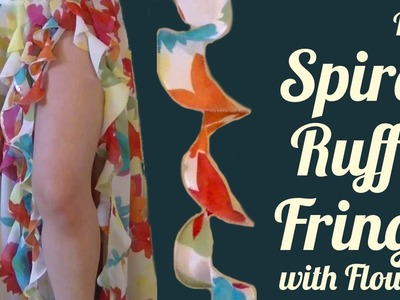 DIY Spiral Ruffle Fringe with Flounce