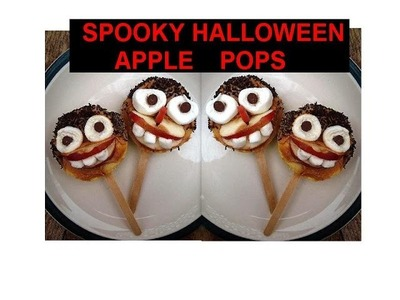DIY SPOOKY HALLOWEEN APPLE POPS, Halloween treats, party decorations