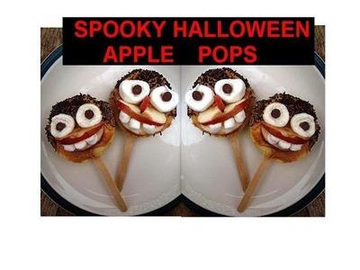 DIY SPOOKY HALLOWEEN APPLE POPS, Halloween treats, party decorations