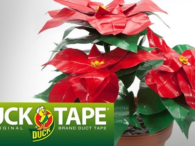 Duck Tape Crafts: How to Make a Poinsettia