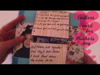 Endless card for Mothersday - DIY