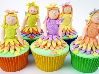 Flower Fairy Cupcakes by Cake Craft World