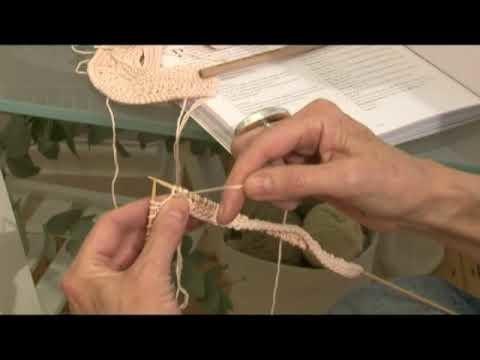 Free Knitting Pattern CoatsCrafts.co.uk Baby Booties 5 lacystitch