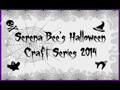 Halloween Mini Album Tutorial | Serena Bee's Halloween Craft Series #4