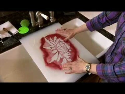 How to Clean a Stencil by Cutting Edge Stencils. DIY decor
