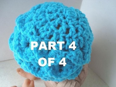 HOW TO CROCHET A CROCODILE  SHELL HAT, PART 4 OF 4.