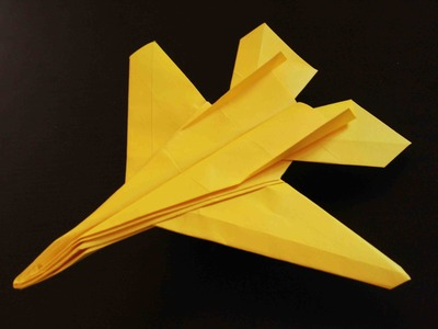 How to make a cool paper plane origami: instruction| F14