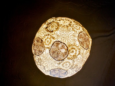 How To Make A Doily Light Fixture