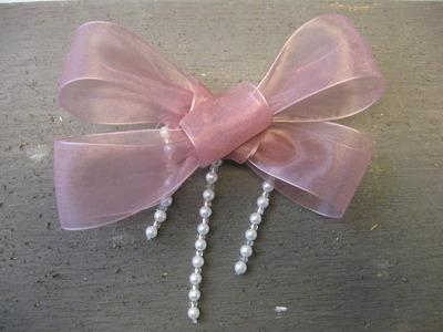 How to Make a No Sew Bow Barrette - Craft Tutorial