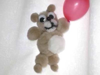 How to make a pom pom teddy bear - EP