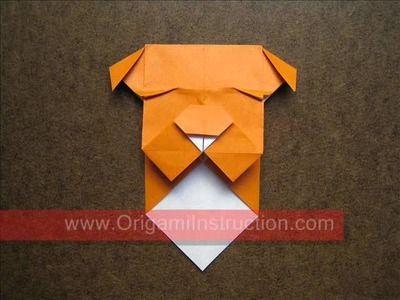 How to Make an Origami Bulldog Bookmark