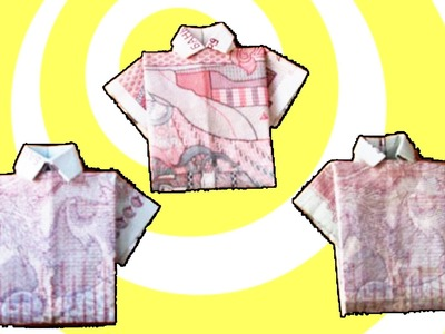 How to make money origami T-shirt :)
