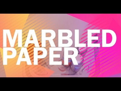 How To Marble Paper The Easy Way - Arts and Crafts for Kids