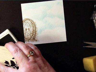 How To Stamp Grass on a Card or Scrapbook Page Without A Grass Stamp
