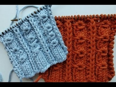 "Knit with eliZZZa * Knitting Stitch ""Donut Ribs"""