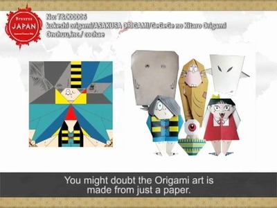 Kokeshi origami.ASAKUSA ORIGAMI.GeGeGe no Kitaro Origami