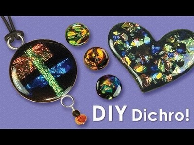 Little Windows - how to make Dichro Resin Jewelry