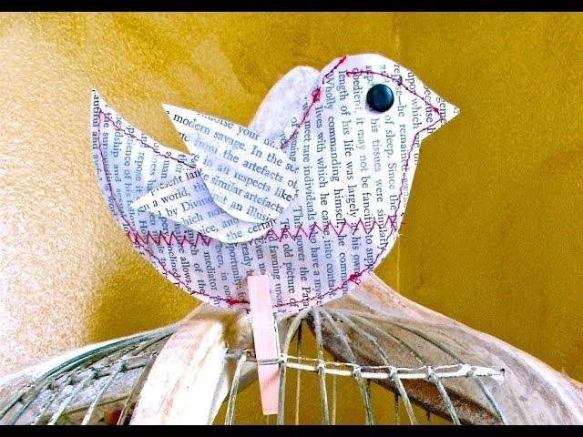 Newsprint Bird Craft