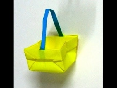 Origami Paper Basket. Paper Basket For Barbie. How To Make Paper Bag