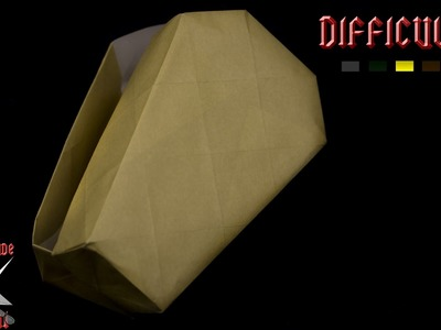 [ORIGAMI TUTORIAL] Coffin Box || Halloween.Boxes