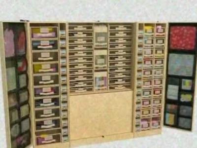 The Scrapbook Work Station - Scrapbook Storage Solutions - 12 x 12 Scrapbook Paper Storage