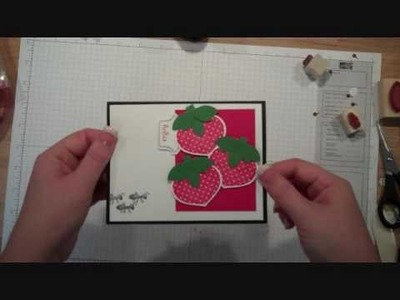 Turning Stampin' Up!'s Ornament Stamp into Strawberries