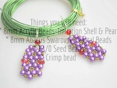 Tutorial of making beaded earrings