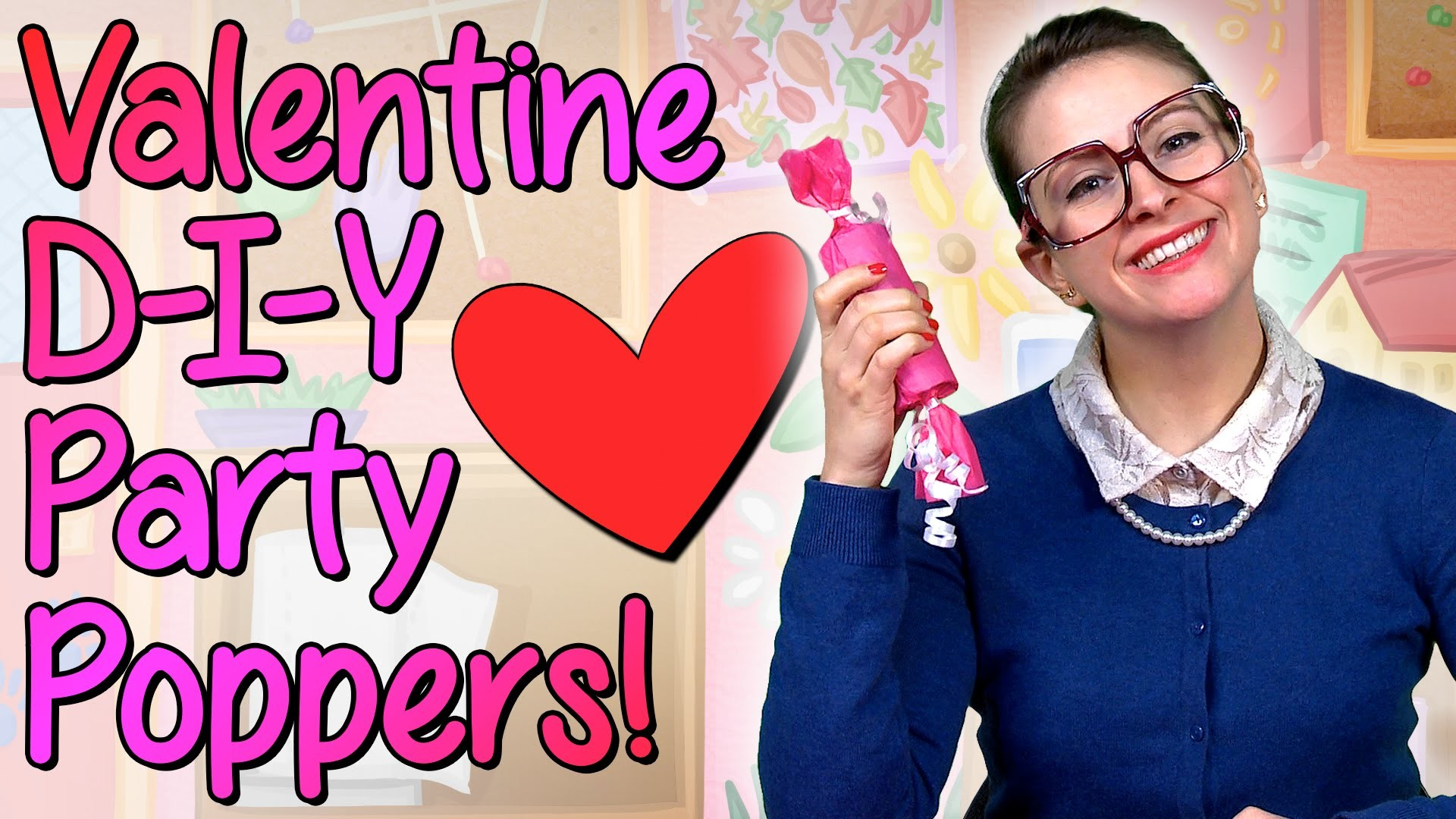 Valentines Day - DIY Party Favors - Crafts for Kids w. Crafty Carol at Cool School