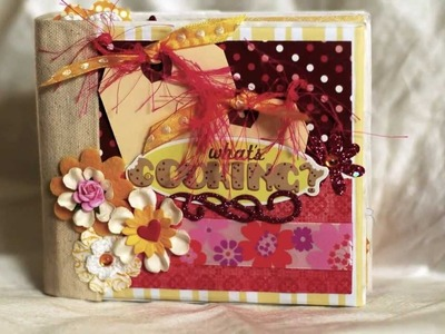 What's Cooking? Paper bag mini scrapbook album