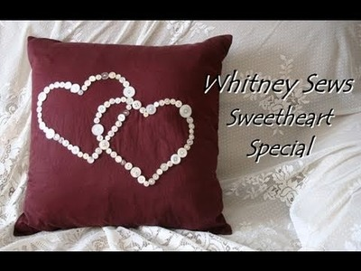 Whitney Sews- Pillow Sham from Men's Shirt DIY