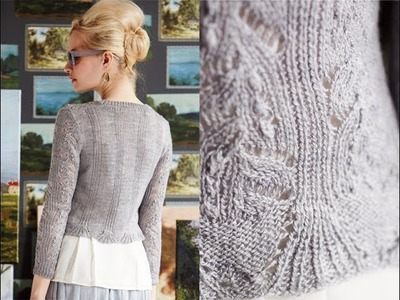 #1 Cropped Cardigan, Vogue Knitting Early Fall 2014