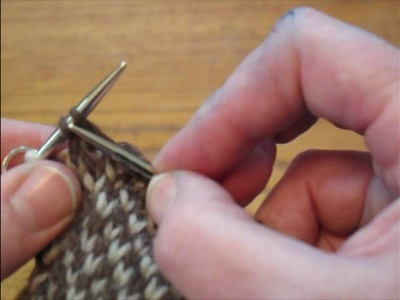 1 of 2 - No Muss No Fuss Short Row Heel - variation using stitch markers - knitting the short rows