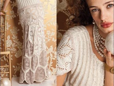 #1 Wedding Dress, Vogue Knitting Fall 2012