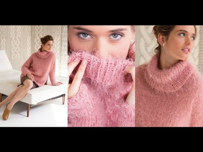 #10 Oversized Turtleneck Pullover, Vogue Knitting Holiday 2014