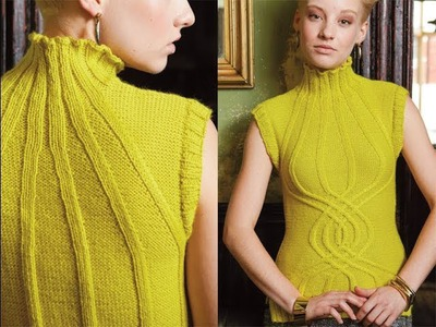 #13 Helix Cabled Vest, Vogue Knitting Winter 2012.13