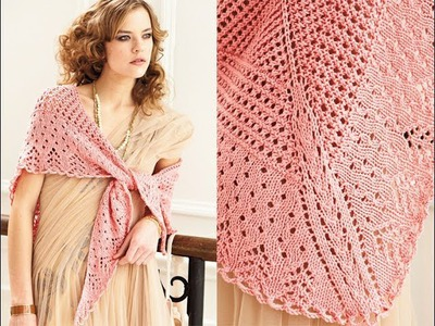 #13 Lace Triangle Shawl, Vogue Knitting Spring.Summer 2012